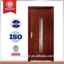 Porte en fibre de verre porte porte principale design unique en bois extérieur