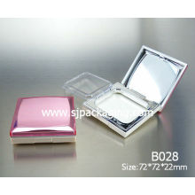 red luxury square powder compact case