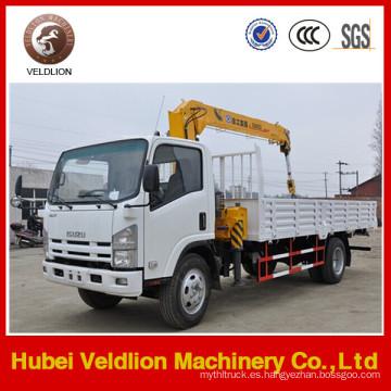 Isuzu 3,2 toneladas camión con grúa