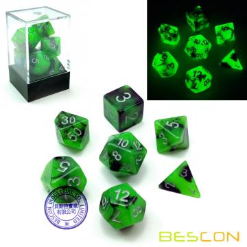 Bescon+Two-Tone+Glow-in-the-Dark+Polyhedral+Dice+Set+SPOOKY+ROCKS%2C+Luminous+RPG+Dice+Set+d4+d6+d8+d10+d12+d20+d%25+Brick+Box+Pack