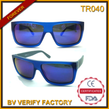 Tr040 Classic Designed Flat Top Fashion Tr90 Sunglasses with CE and FDA Certificates