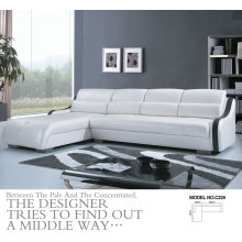 White Color Modern Sofa, Living Room Leather Sofa (C22)