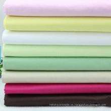 Tejido de algodón de tela cruzada de color sólido de los años 80