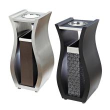 Dustbin en acier inoxydable et en cuir pour le hall (YW0059)