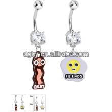 316L piercing jóias anéis de botão de barriga livre