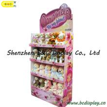 Estante de exhibición de papel rellenado de los juguetes, exhibición de la cartulina del juguete de la felpa (B & C-A078)