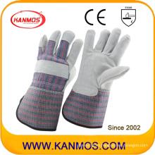 Cuff largo de vaca Split cuero guantes de trabajo de seguridad industrial (110071L)