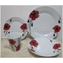 white ceramic 16 pcs korean tableware