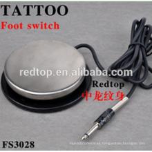 Venta al por mayor más barato profesional tatuaje fuente de alimentación tatuaje pie interruptor