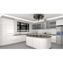 Circle Design weißer Lack hochglänzender Küchenschrank