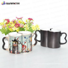 11oz color changing couple mug for customized picture promotion gift