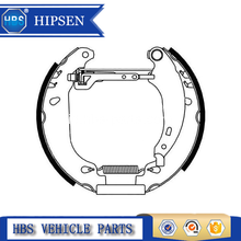 OEM 42418J Automotive Parts Brake Shoes Untuk Peugeot
