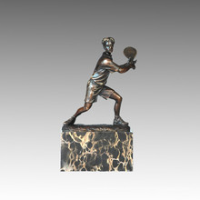 Sport Statue Tennis Spieler Bronze Skulptur, Milo TPE-726