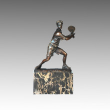 Sports Statue Tennis Player Bronze Sculpture, Milo TPE-726