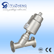 Stainless Steel Pneumatic Control Angle Seat Valve with Flanged Connection