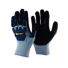 NMSAFETY blue anti-impact and cut resistant winter gloves