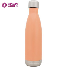 Großhandels-Soem-kundenspezifisches Logo isolierte Edelstahl 18 8 Metallwasser-Flasche