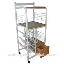 Металлические съемные столовые сервировочные тележки с колесами