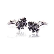 Personalizado Skull Shape Silver Cufflinks para homens para casar