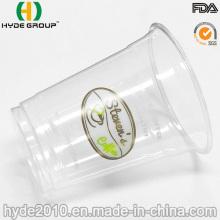 Tasse jetable d'animal familier transparent pour la crème glacée