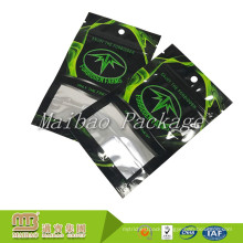 Custom Design Printing Flexible Packaging Aluminum Foil Plastic Three-Side Sealing Bags With Zipper