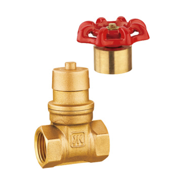 Messing Magnetische Lockable Gate Valve, Full Port, NSF UPC