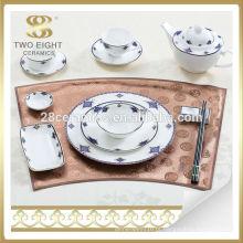 Conjunto de louça de porcelana fina da Alemanha Conjunto de louça de porcelana italiana para hotel 5 estrelas