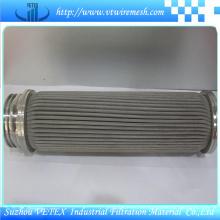 Elementos de filtro de acero inoxidable resistentes a los ácidos