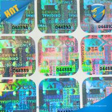 Autocollant personnalisé personnalisé en hologramme 3D, autocollant holographique sécurisé imprimé