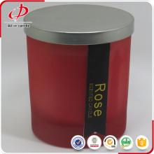 Hotsale perfumado vidro jar vela com tampa