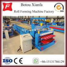 Factory source manufacturing for China Double Layer Sheet Roll Forming Machine Manufacturers Double Deck Metal Roof Tile Roof Making Machine export to China Macau Manufacturers