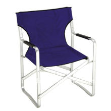 Flattened aluminum folding director chair for events and meetings