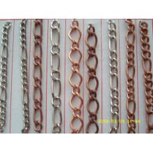 China Lieferanten Großhandel billig Eisen Material Metallkette für Schlüsselanhänger