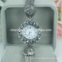 Die beliebtesten Vintage Fashion Schöne Legierung Armbanduhr für Frauen B027