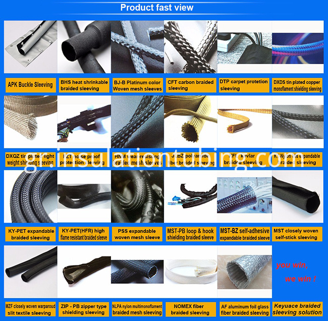 Type self- adhesive Textile Sleeving