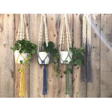 Pflanzen Halter, Hochzeit Dekoration hängenden Pflanzer, handgemachte Makramee Pflanze Kleiderbügel