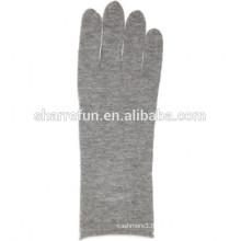 Super chaud luxueux 100% pur tricot long gants de cachemire