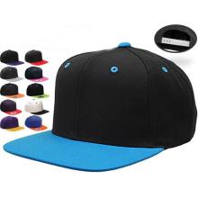 Sombrero de ala plana en blanco Snapback sombreros al por mayor