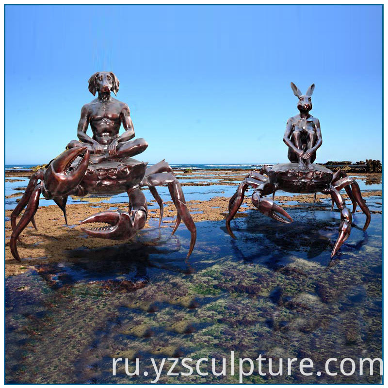 bronze crab sculpture