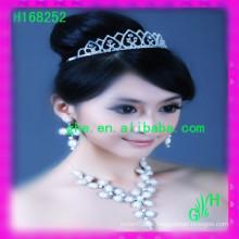 Nueva tiara nupcial vendedora caliente 4 de la boda de la joyería nupcial del Rhinestone de la tiara
