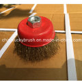 3inch Crimped Wire Cup Brush with M10X1.5 Thread (YY-593)