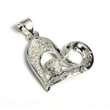 Colgante en forma de corazón caliente de la joyería de la fábrica con el zircon cúbico