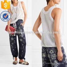 Spitzen-getäfelten Open-stricken Baumwolle Top Herstellung Großhandel Mode Frauen Bekleidung (TA4114B)