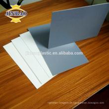 JINBAO pvc material grau 8mm 5mm säure und laugenbeständig starre pvc