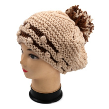OEM New Design Hand Knit Ladies Elegant Beret Wholesale