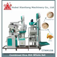 zct1000 usine à la maison mini usine de riz moderne au Pakistan