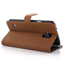 Luxury PU Leather Wallet Phone Case Cover for Samsung Galaxy S5 Sv N9600