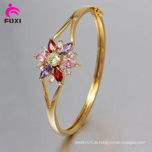 Wuzhou Foxi Art- und Weisefrauen Schmucksachen 18k Gold überzogenes CZ-Armband