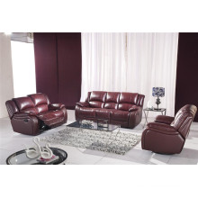 Genuine Leather Chaise Leather Sofa Electric Recliner Sofa (805)