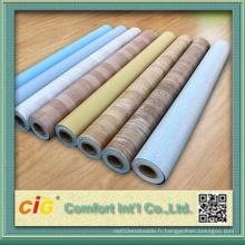 Résistance à l'abrasion PVC Revêtement de sol en plastique
